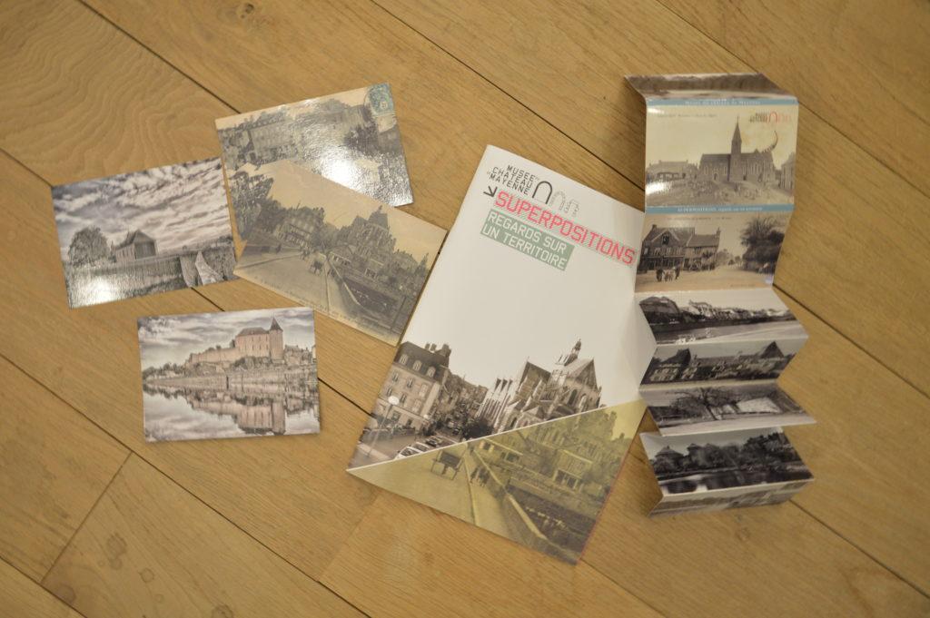 Catalogue et produits dérivés de l'exposition Superpositions, regards sur un territoire